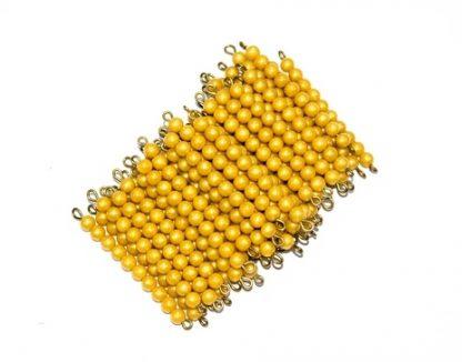 45 barras de perlas doradas-Material Montessori-vista frontal