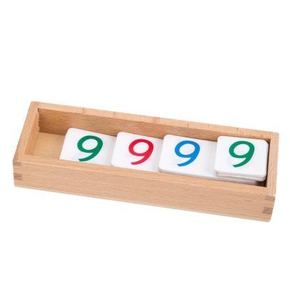 Caja de números pequeños de pvc-Material Montessori