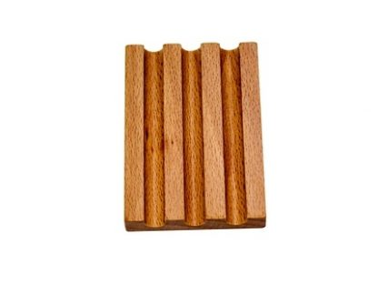 Base madera para 3 lápices-Material Montessori