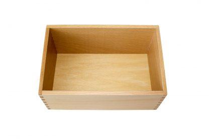 Caja pequeña para las letras de lija-Material Montessori