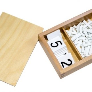 Caja de Signos Aritméticos-vista frontal-material montessori