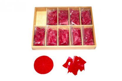 Círculos de División de 1/11 a 1/20 - Material Montessori-vista frontal