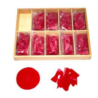 Círculos de División de 1 a 1/10 - Material Montessori-vista frontal