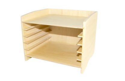 Gabinete de 5 Puzzles - Material Montessori- vista frontal