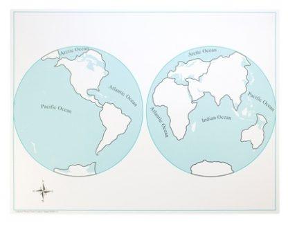 Mapa de Control: El Mundo sin Etiquetas - Material Montessori-vista frontal