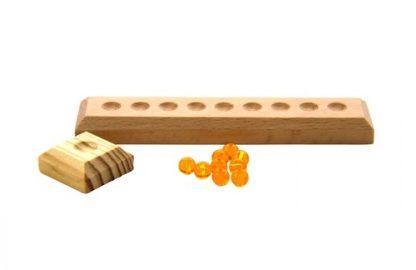 Pack 9 Unidades de Perlas Doradas + Extras - Material Montessori-vista frontal