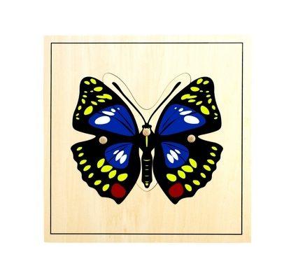 Puzzle de la Mariposa - Material Montessori-vista frontal