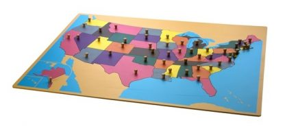 Puzzle mapa de EEUU - Material Montessori