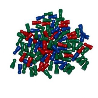 El material consiste en una bolsa de plástico que contiene 100 sticks de 3 colores distintos.