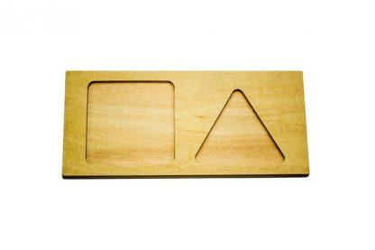 Tablero de figuras para perlas-Material Montessori