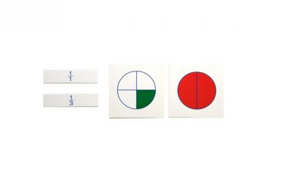 Tarjetas de las fracciones que representan las fracciones de un círculo, una unidad,una mitad,un tercio...
