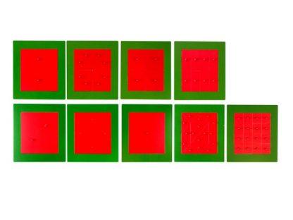 Cuadrados Metálicos - Material Montessori