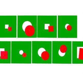 Figuras inscritas y concéntricas-Material Montessori-vista frontal