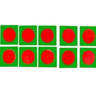 Fracciones Metálicas-vista frontal-material montessori