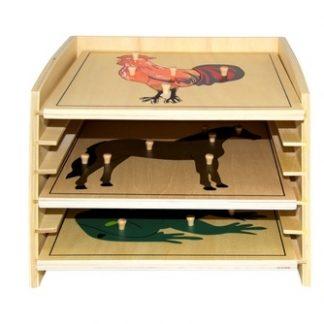 Gabinete de Animales - Material Montessori