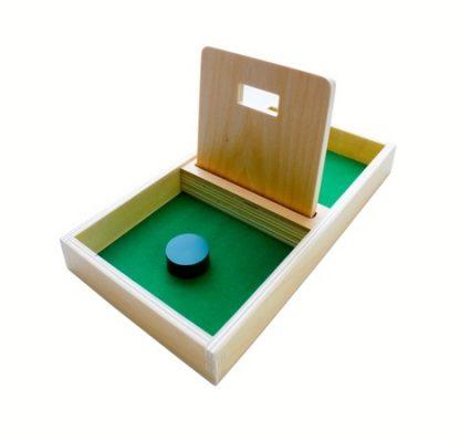 Bandeja de Permanencia de Madera con Disco-Material Montessori-vista frontal