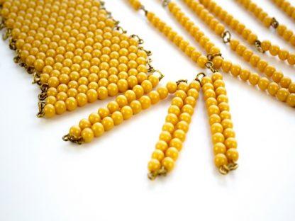 Cadena de 1000 de Perlas Doradas-Material Montessori-vista frontal