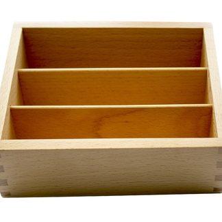 Caja para Tarjetas con Formas Geográficas - Material Montessori