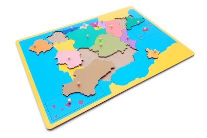 MAPA PUZZLE DE ESPAÑA-2059