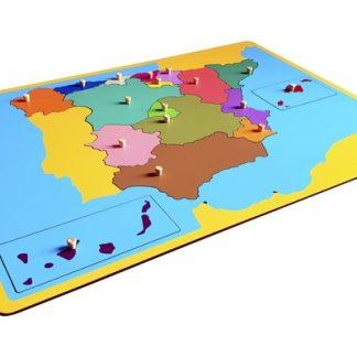 mapa puzzle de españa- material montessori