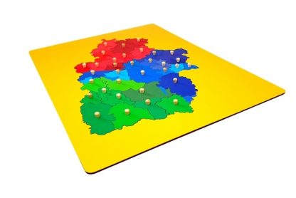 mapa puzzle de aragón-material montessori