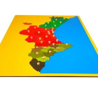 mapa puzzle de valencia-material montessori