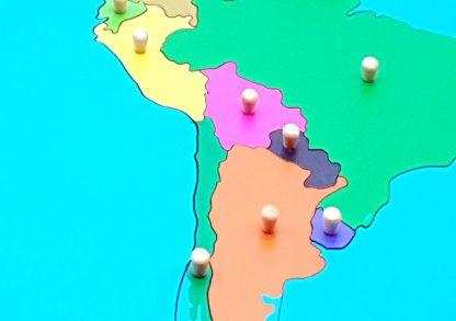 PUZZLE MAPA DE AMÉRICA DEL SUR