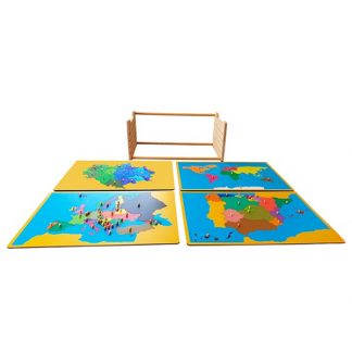 Pack mapas Montessori extremadura